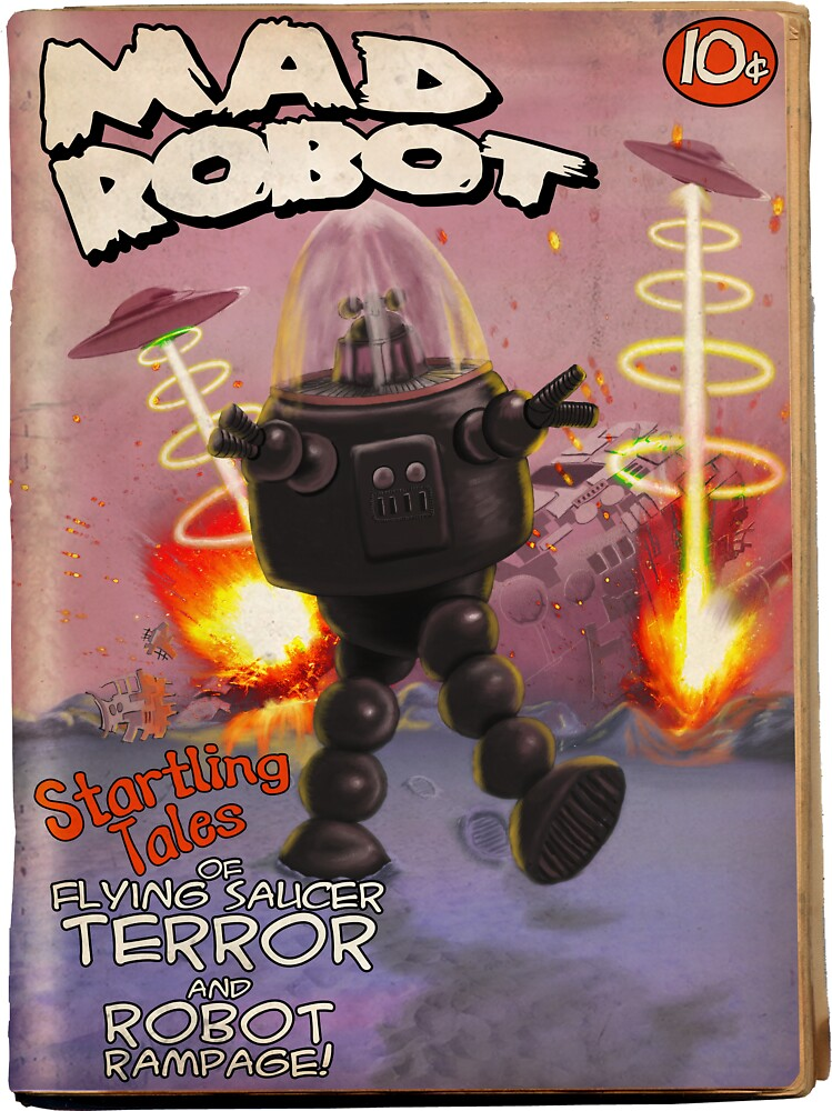 Mad Robot Pulp Cover by mdkgraphics