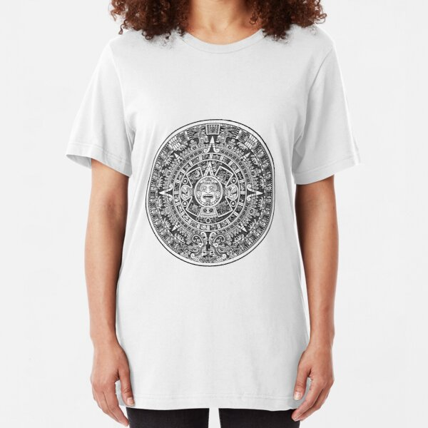 Aztec calendar Slim Fit T-Shirt