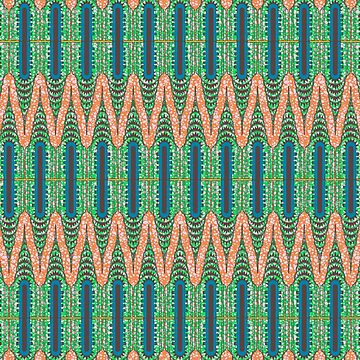 CHRYSLER BUILDING - Orange & Green by Afrodeco