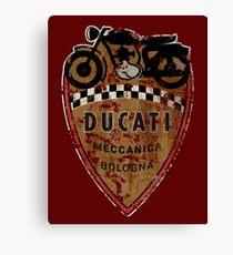 Ducati Vintage Motorcycles Bologna Italy Canvas Print