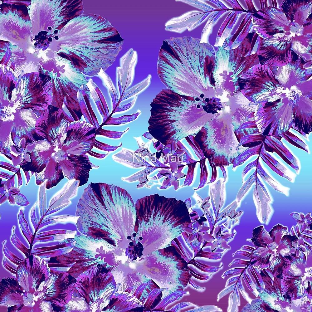 Violet Hula Hibiscus by Nina May