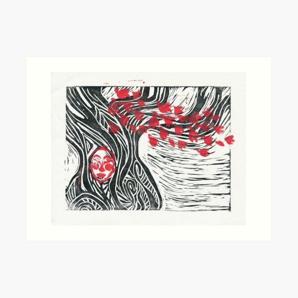 Wisdom of Trees - Visage on White Art Print