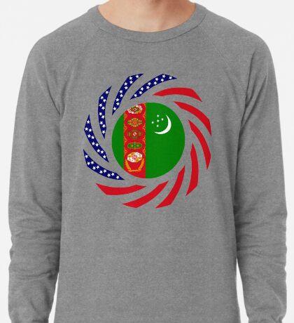 Turkmen American Multinational Patriot Flag Series Lightweight Sweatshirt