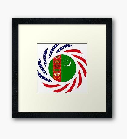 Turkmen American Multinational Patriot Flag Series Framed Print