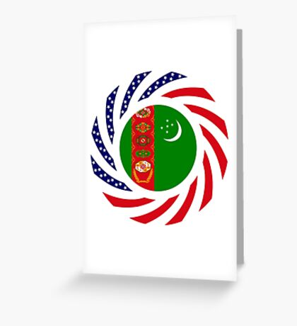 Turkmen American Multinational Patriot Flag Series Greeting Card