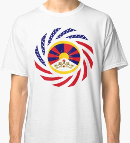 Tibetan American Multinational Patriot Flag Series Classic T-Shirt