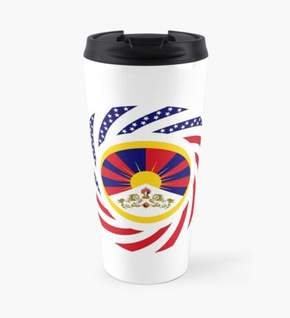 Tibetan American Multinational Patriot Flag Series Travel Mug