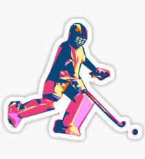 Hockey Player Drawing Stickers Redbubble