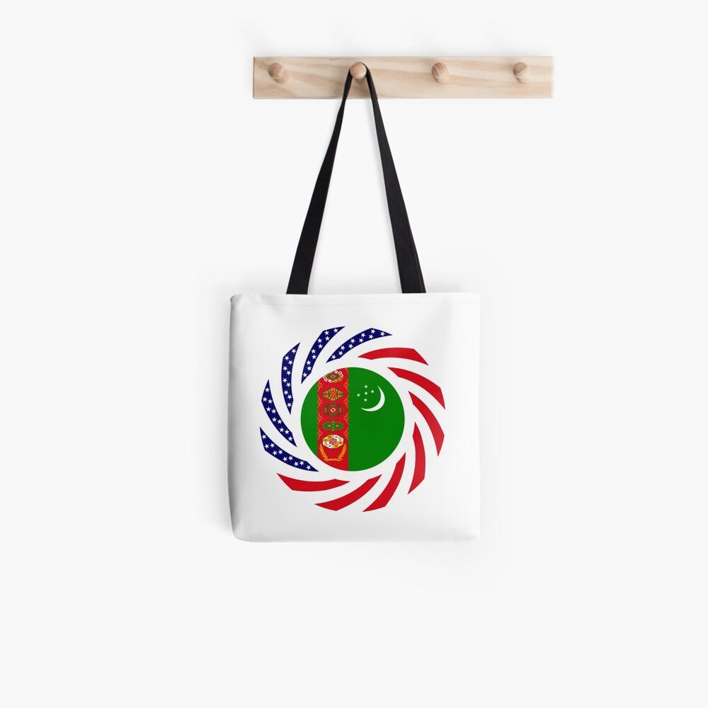 Turkmen American Multinational Patriot Flag Series Tote Bag