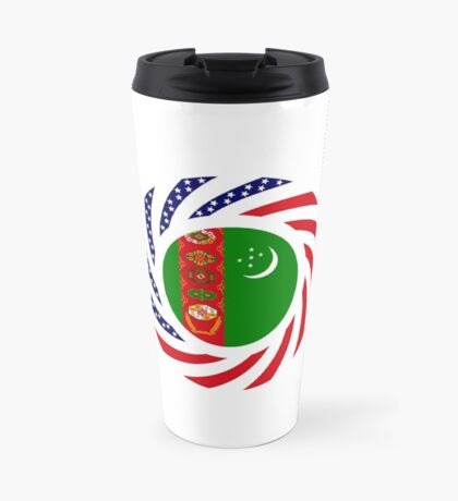 Turkmen American Multinational Patriot Flag Series Travel Mug