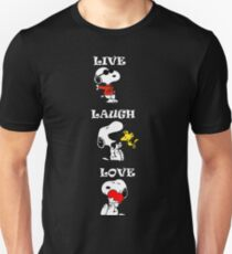 Snoopy Peanuts Funny Live Laugh Love  Unisex T-Shirt