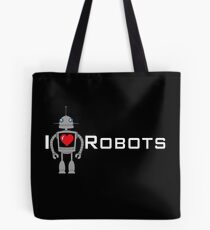 I Heart Robots - I Love Robots Tote Bag