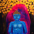 Buddha Among Golden Leafs  by BenPotter