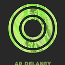 AR Delaney Font Iconic Charactography - O by Custranz