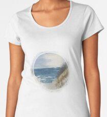 At the sea I Baltic sea beach watercolor Women's Premium T-Shirt