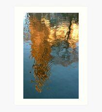 Amsterdam Westerkerk reflected Art Print
