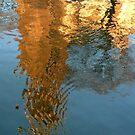 Amsterdam Westerkerk reflected by jchanders