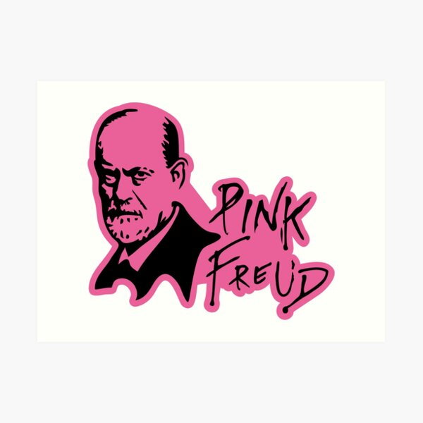 PINK FREUD PSYCHOANALYSIS Art Print