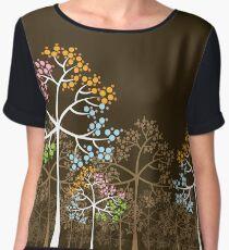 Colorful Four Seasons Trees Chiffon Top