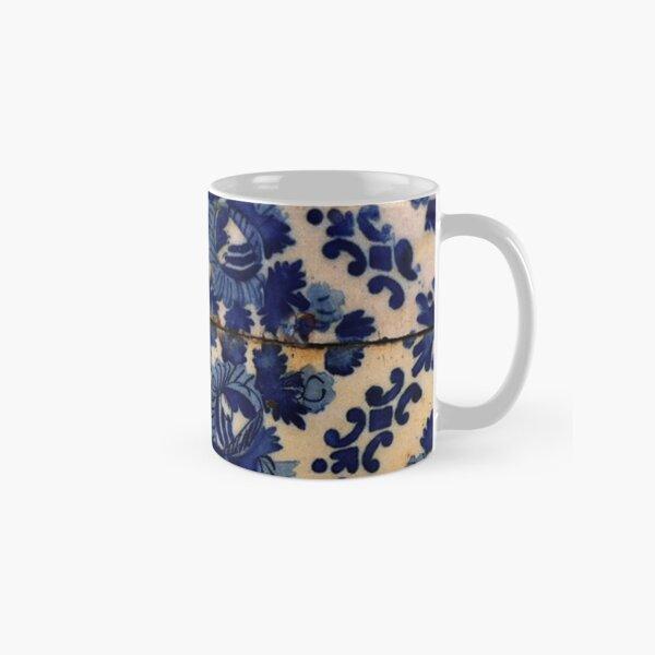 Blue flowers tile Classic Mug