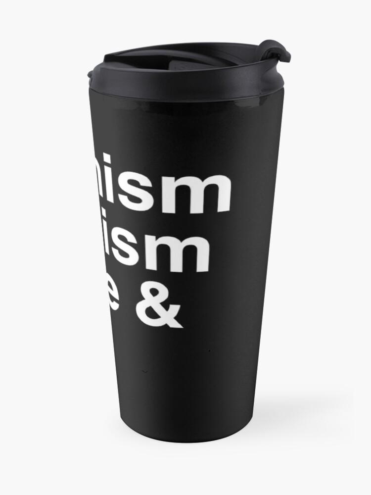Alternate view of Feminism, Satanism, Coffee & Cats Travel Mug