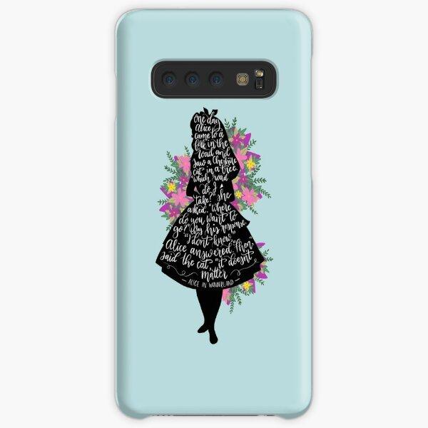 Alice in Wonderland Quote Silloette  Samsung Galaxy Snap Case