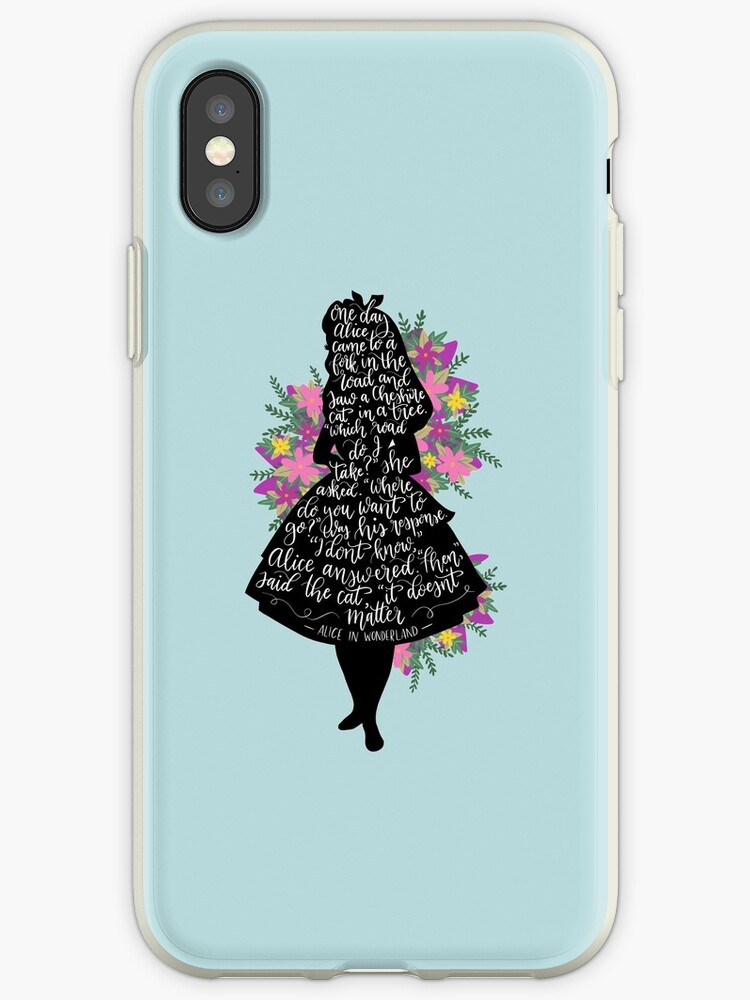 Alice in Wonderland Quote Silloette  by Love Lily