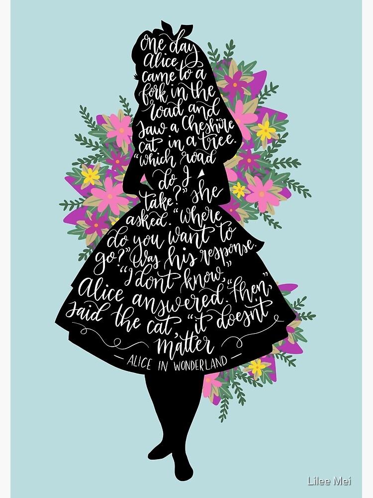 Alice in Wonderland Quote Silloette  by alwaysbookish