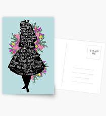 Alice in Wonderland Quote Silloette  Postcards
