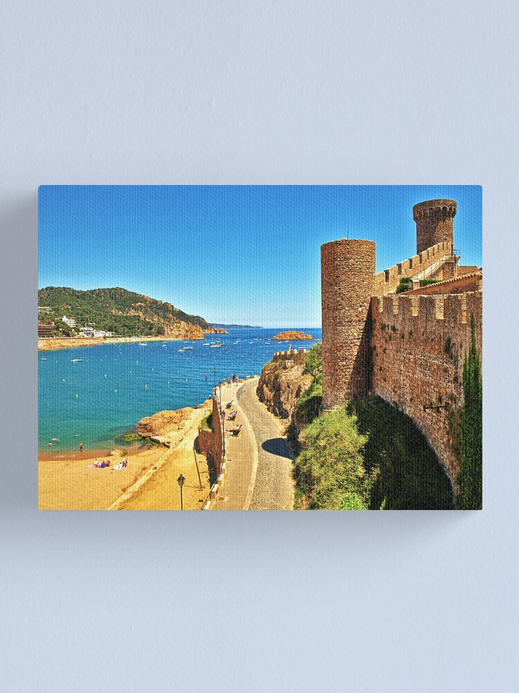 Alternate view of The Beach & the Castle Canvas Print