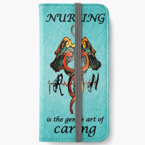 Nursing wallet phone case blue iPhone Wallet