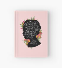 Jane Austen Quote  Hardcover Journal