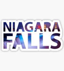 Niagara Falls Three Waterfalls Sticker