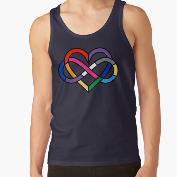 Queer Polyamory Pride Infinity Heart Tank Top