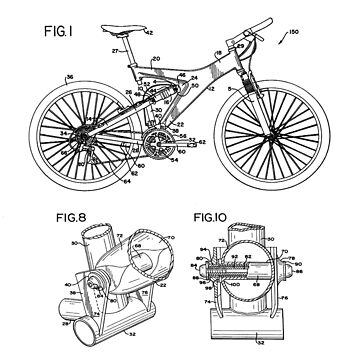Mountain Bike Patent Inventors Black by Vesaints