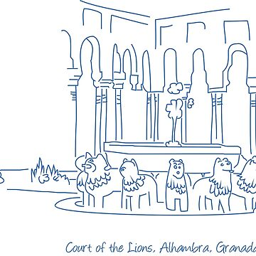 Alhambra Court of the Lions 1 by twgcrazy