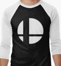 Super Smash Bros Logo Men's Baseball ¾ T-Shirt