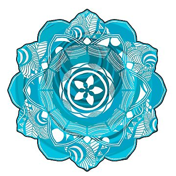 Turquoise Spirit Mandala by mayuskimbe