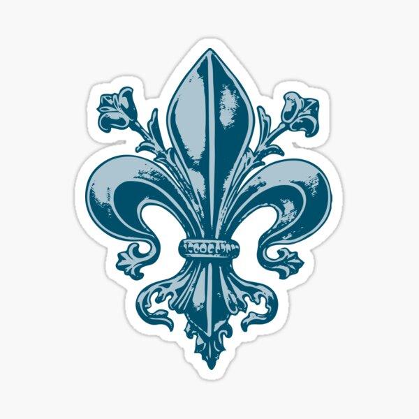 Québec France fleur de lys bleu royal antique médieval PQ Qc french français Nouvelle-France Sticker