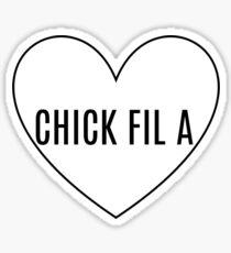 I Heart Chick Fil A Sticker