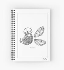 Winged Skull Spiral Notebook