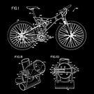 Mountain Bike Patent Inventors White by Vesaints