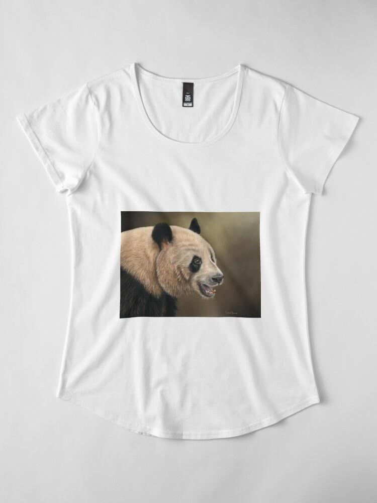 Alternate view of Giant Panda Premium Scoop T-Shirt