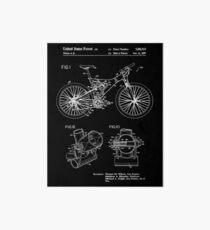 Mountain Bike Patent Inventors White Art Board
