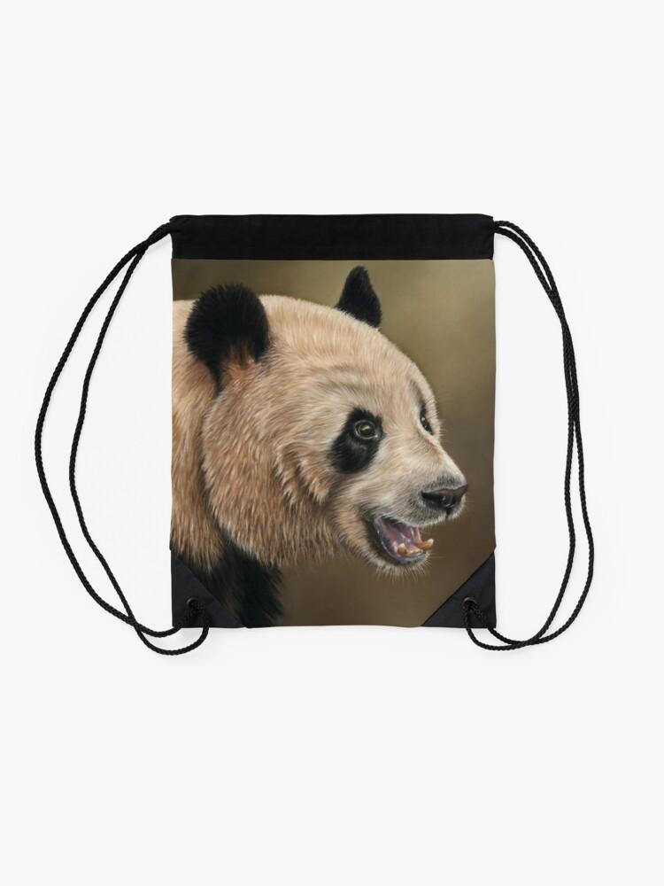 Alternate view of Giant Panda Drawstring Bag