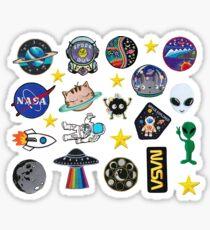 Weltraumforschung Alien Outer Space Galaxy Patch inspiriert Pack Sticker