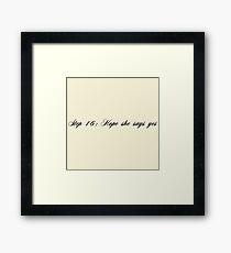 The Robin Framed Print