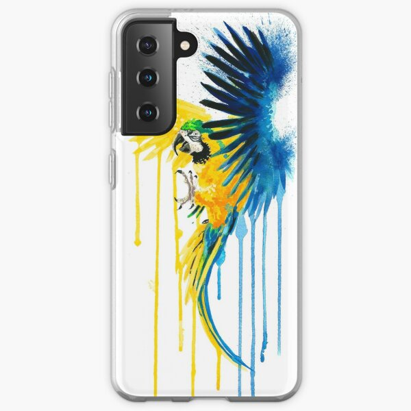 BLUE AND GOLD MACAW SPLASH Samsung Galaxy Soft Case