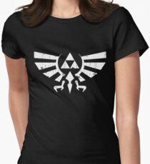 Triforce Crest - Legend of Zelda Womens Fitted T-Shirt