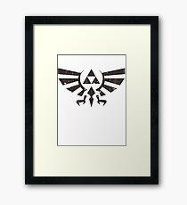 Triforce Crest - Legend of Zelda Framed Print